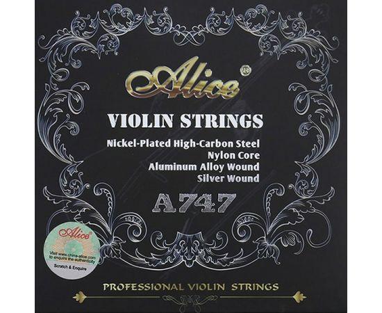 ALICE A747 Комплект струн для скрипки размером 4/4, среднее натяжение, синтетика