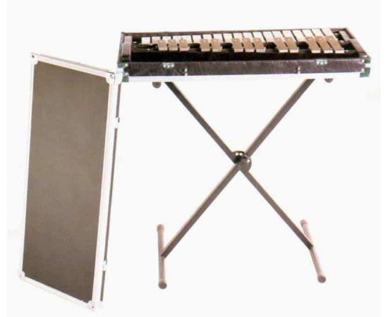 AP PERCUSSION BL-632A Глокеншпиль, диапазон звучания F5-C8, 2 2/3 октавы, строй 442Гц, 32 клавиши, деревянная рама, стойка, кейс, палочки