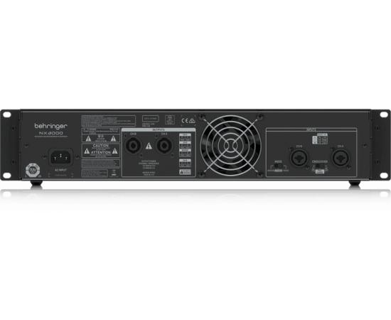 BEHRINGER NX3000 усилитель 2-канальный. Мощность пик. 2 x 1500Вт•2Ω/900Вт•4Ω/440Вт•8Ω, мост 3000Вт•4Ω/1500Вт•8Ω, Speakon/комбо-XLR, кроссовер