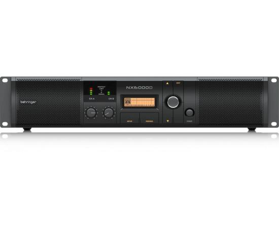 BEHRINGER NX6000D усилитель 2-канальный. DSP, Мощность пик. 2 x 3000Вт•4Ω/1600Вт•8Ω, Speakon/комбо-XLR, кроссовер