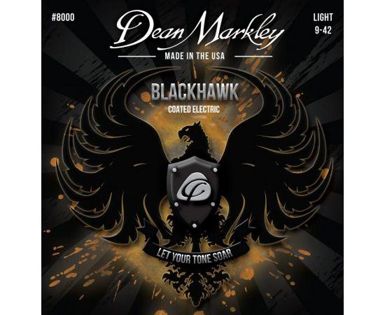 DEAN MARKLEY DM8000 Blackhawk Комплект струн для электрогитары, с покрытием, 9-42