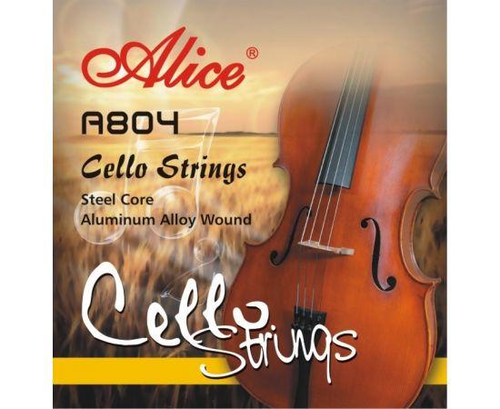 ALICE A804 3/4 Струны для виолончели 3/4, обмотка из сплава алюминия